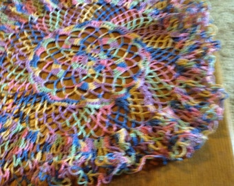 Vintage Crocheted Muilt-Colored Dolies