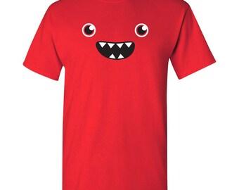Om Nom Nom Monster Face T Shirt