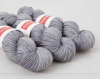 Extra Fine Merino DK hand dyed yarn - London Skies