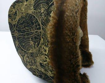 Ferox gold atlas faux fur trim hood