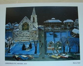 Christmas Eve, Winter, 1958  - Art Card