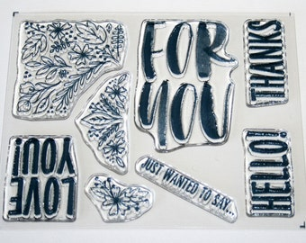 For You Clear Rubber Stamp Set from Stampin Up Paper Pumpkin