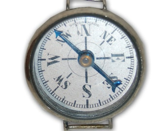 Genuine Vintage Antique Wrist Compass, Swiss made -- Free Shipping!