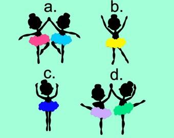 Ballerina Decal - Ballerina Silhouette Decal - Dance Decal
