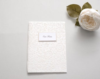 Vow Book, Vows Booklet, IVORY, Vow Book, Our Vows, Wedding Vows, Wedding Vow Keepsake, His & Hers Vows, Flocked, Made to Order