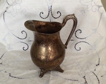 Silverplated water pitcher great patina