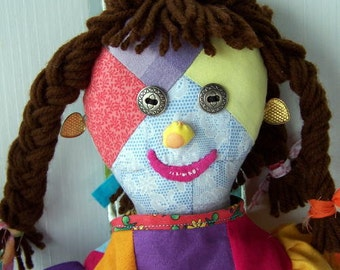 Patchwork Girl Doll made to order