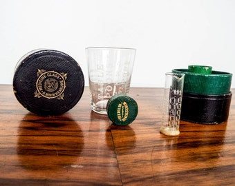 Antique Medical Apothecary Wallace Pring Measuring Cup and Minim Measure, Unique Gift Ideas for Doctor, Medical Present