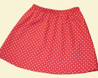Skirt with printed little flowers