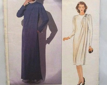 Vogue 1117 Jerry Silverman Designer Dress Semi Fitted A-Line with Tucks Size 18 Bust 40 UNCUT