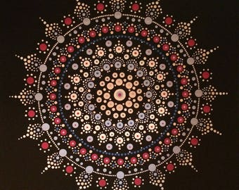 Mandala painting: Miss lace