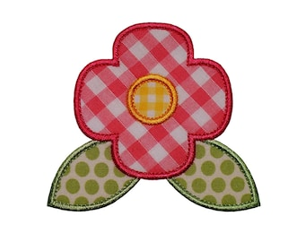 """Poppy Flower Appliques Machine Embroidery Designs Applique Pattern in 5 sizes 2"""", 3"""", 4"""", 5"""" and 6"""""""