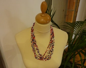 MULTISTRAND necklace beads