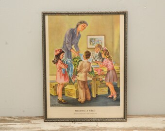 1950s Christian Values Print Framed