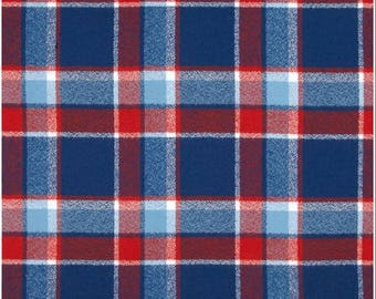 Soft flannel Plaid in blue, red and white