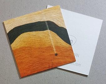 Camping on a River Bend Art Print, mini art print, miniature art, mini art, mini artwork, small art print, mini wall art