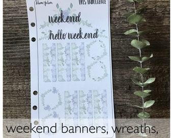 EC Weekly Planner Sticker Kit | Iris Indulgence | Unique Planner Stickers