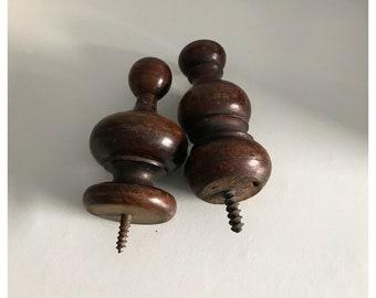 2 Vintage Wooden Drawer Handles, Coat/Bag Hooks