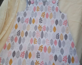 Leaves & animals 3 year old Reversible Dress
