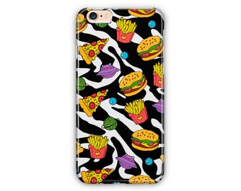Cute Xeamless Pattern With Pizza iPhone case, Samsung edge Case, iPhone 8, iPhone 7, Iphone 6, iPhone 5, Samsung S7, Samsung S6, Samsung S5
