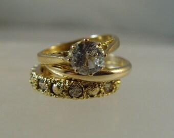 Vintage 1980s Engagement/Wedding/Eternity hallmarked 9 ct gold Charm / Pendant