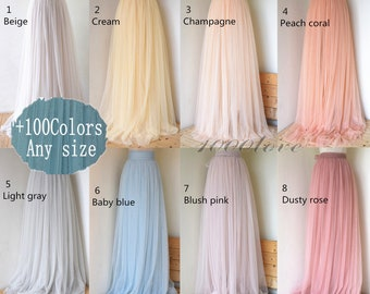 Adult wedding bridesmaid tulle skirt,any size women tulle skirt,custom tulle wedding skirt