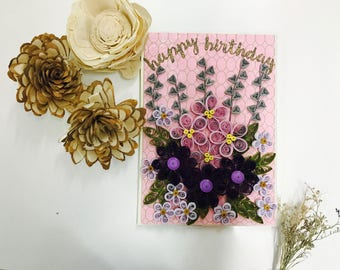 Quilled Birthday Card - City Dust