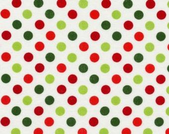 Robert Kaufman - Spot On Holiday Polka Dots EZC-12872-223 in Multi