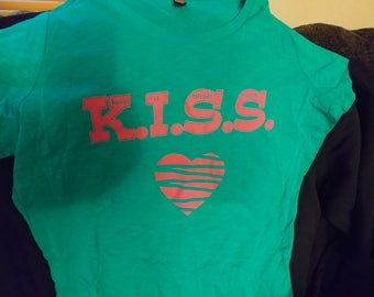 XXL KISS (Keep It Simple Stupid) Women's t-shirt teal blue