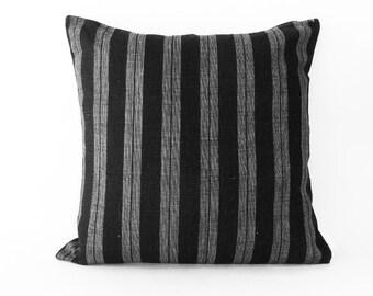 Grey / Black / Linen | Pillow cover