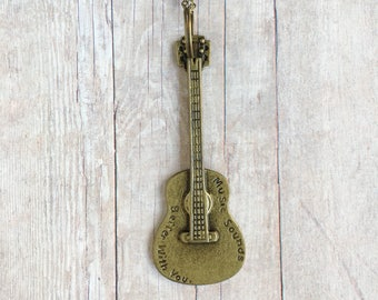 Guitar Necklace Music Jewelry Musician Gift Musical