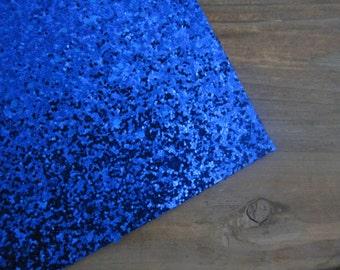 Glitter Material Bright Navy Blue 8X10 sheet