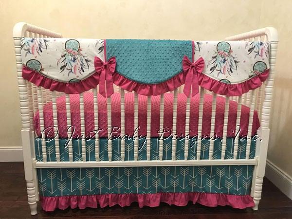 Baby Girl Crib Bedding Dream Catcher Crib Bedding Feathers