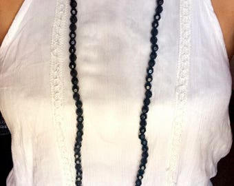 Long Double Wrap Beaded Necklace