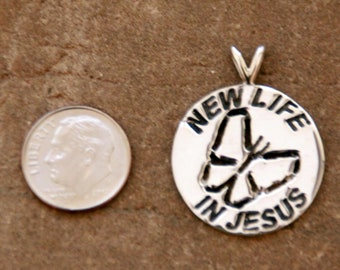Sterling Silver New Life In Jesus Pendant