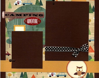 Camping Adventure - 12x12 Premade Scrapbook Page