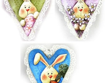 Bunny Love Ornaments E-Pattern by Chris Haughey