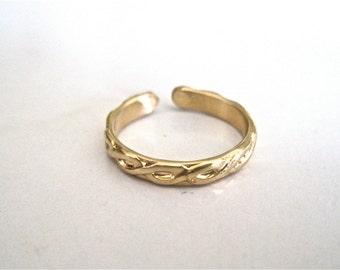 Gold Toe Ring, Toe Ring, Summer Toe Ring, Bridal Toe Ring, Bridesmaid Toe Rings, Fashion Toe Ring, Handmade Toe Ring