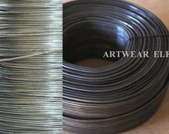 Black Or Silver Steel Wire, 26, 24, 20, 18, 16 Gauge Wire, Bangle Bracelet Wire, Framing Wire, Bulk Wire, Pewter Wire, Artwear Elements®