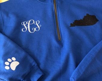 Kentucky 1/4 zip sweatshirt KY UK