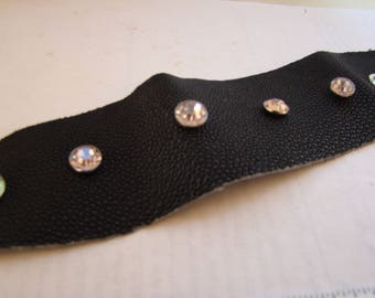 Lovely jeweled stingray leather cuff bracelet !!