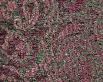 Upholstery Fabric - Sydney - Amethyst - Textured Chenille Modern Paisley Home Decor Upholstery Fabric by the Yard - Available in 8 Colors