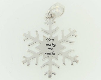 Inspirational Snow Flake- Sterling Silver