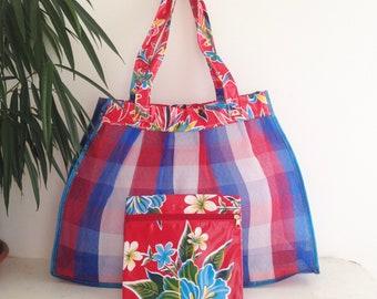 Cover - red/blue + beach bag