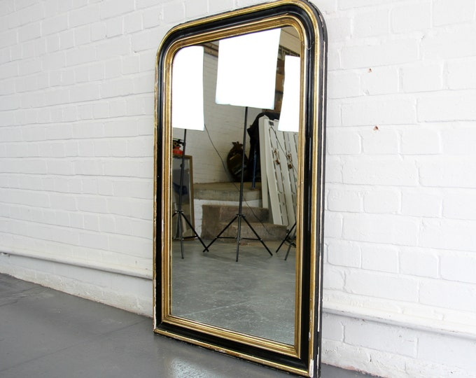 Large Early 20th Century Belgian Over Mantle Mirror Circa 1900