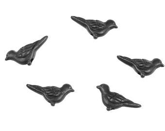Paloma Beads Dove Beads Bird Beads TierraCast Oxide Black Beads for Jewelry Making Jewelry Beads Spanish Dove Charms  (PB37)