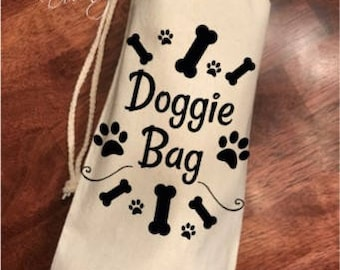 Doggie Bag Treat/Gift Bag! Can be Personalized /10oz Cotton Canvas