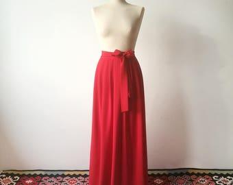 Bridesmaid skirt, Long skirt, red skirt, chiffon skirt, red bridesmaids skirt, bridesmaids skirt, red skirt, long skirt, red long skirts