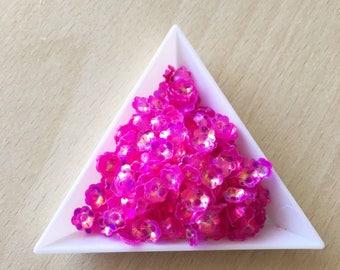 """Glitter / floral Bowl """"fandango pink iridescent"""" 6 mm in bulk"""