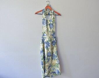 Vintage Backless Halter Top Dress